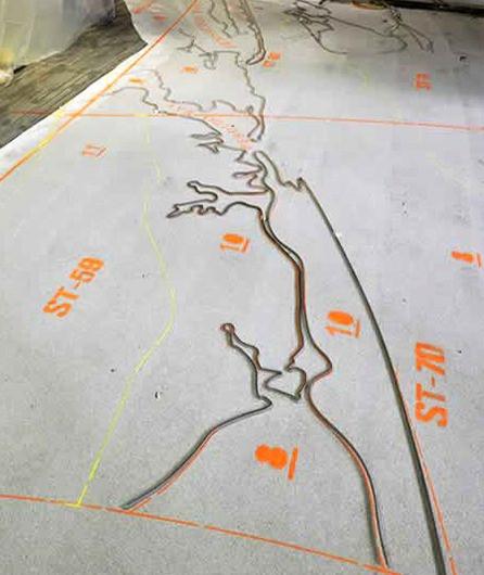 Terrazzo floor layout process
