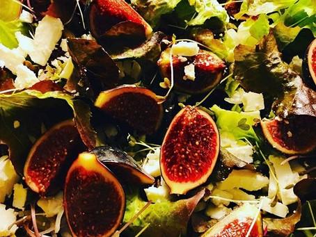 Salade met verse vijgen, zon op je bord!