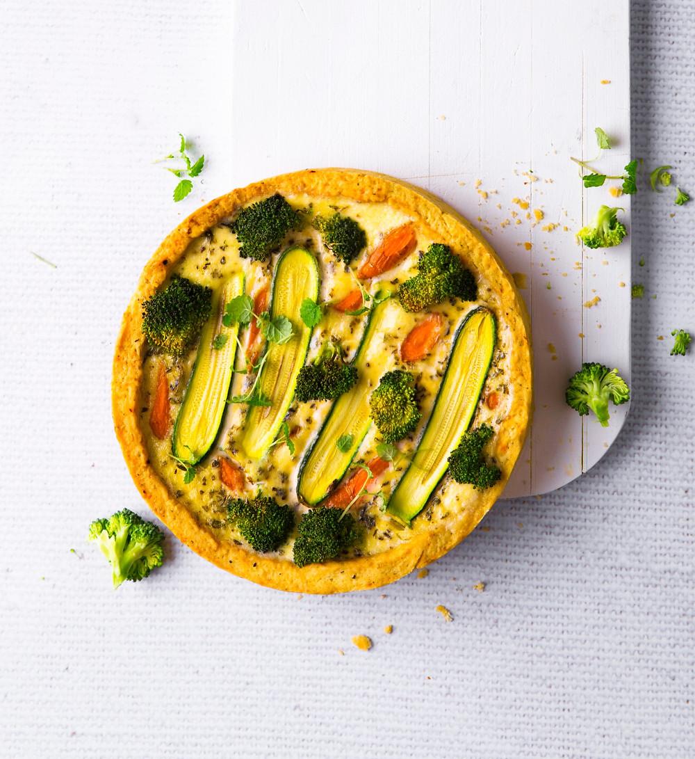 tarta su daržovėmis, VMG receptai