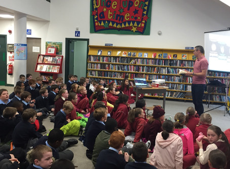 4th Classes meet author Shane Hegarty