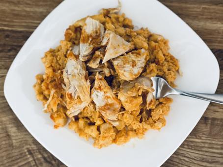 Deliciously EASY- Buffalo Chicken & Cauliflower Rice