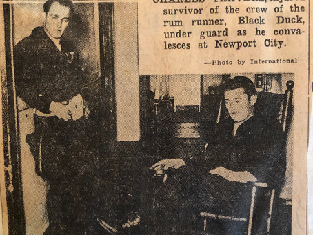 Captain Charles Travers in Newport Hospital
