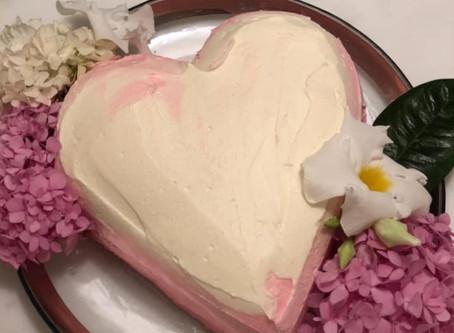 Anniversary Heart-Shaped Cake