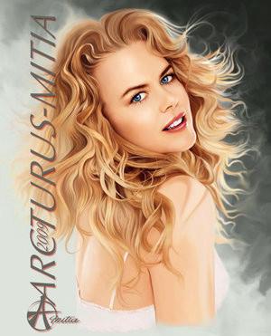 Nicole Kidman by Mitia Arcturus