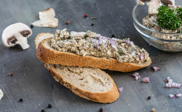 Recept na zdravou houbovou paštiku