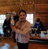 Gold winner ladies at Färsna Cup