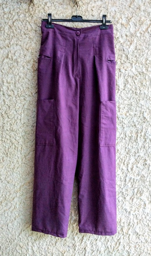 Purple sheet pants