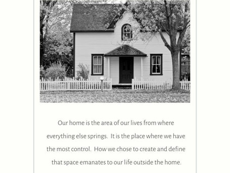Home is where you heart is... not necessarily all your 'stuff'