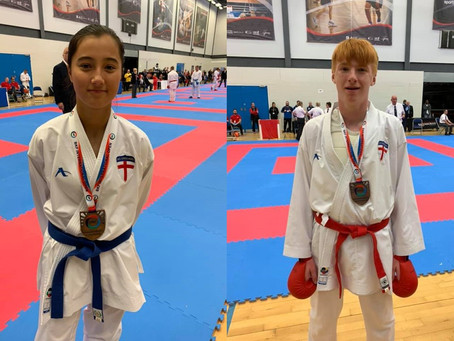 York Karate fighters medal at the British International Open