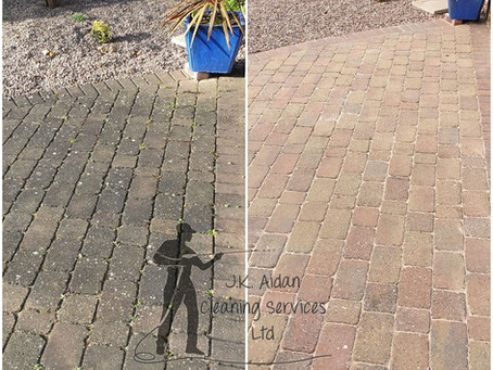 How to clean your driveway without a pressure washer!