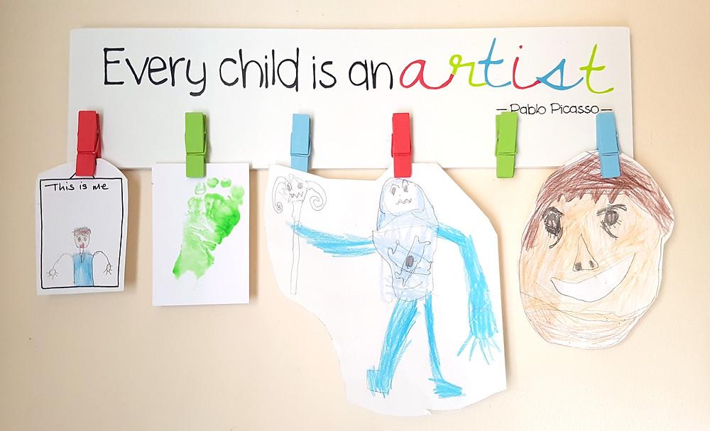 Creative display of children's art