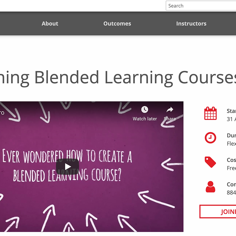 Digital Learning Design Course