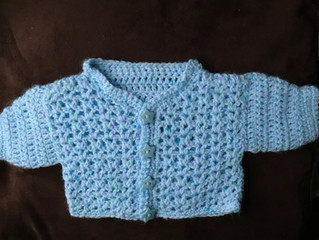 My first baby cardigan