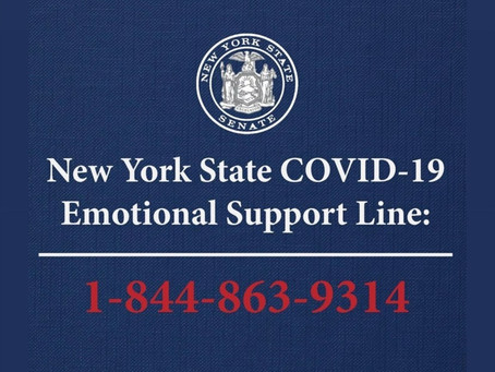 New York State COVID-19 Emotional Support Line