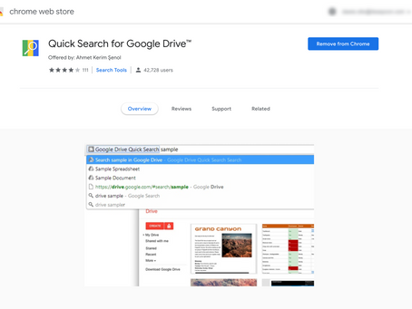 Quick Search for Google Drive Extension