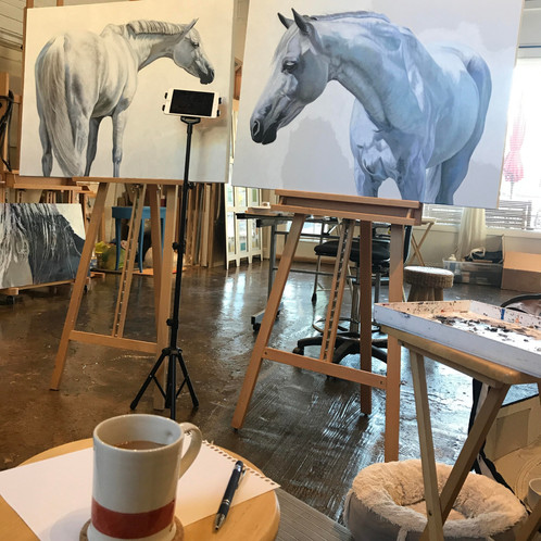 Capturing the essence of a horse with renown artist, Julie Ferris