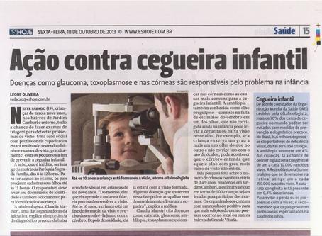 ES HOJE - Ação Contra Cegueira Infantil