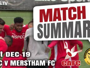 Match summary - Merstham