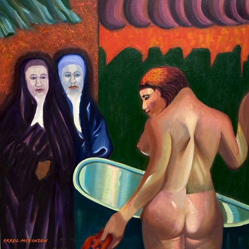 Two Nuns and a Nude