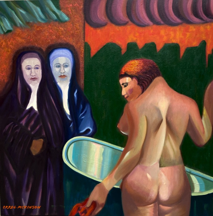 Two Nuns and a Nude at the Brothel