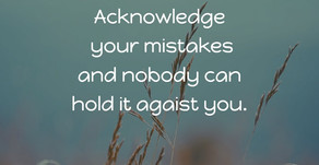 Acknowledge your....