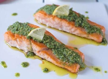 Dairy-Free Pesto Salmon