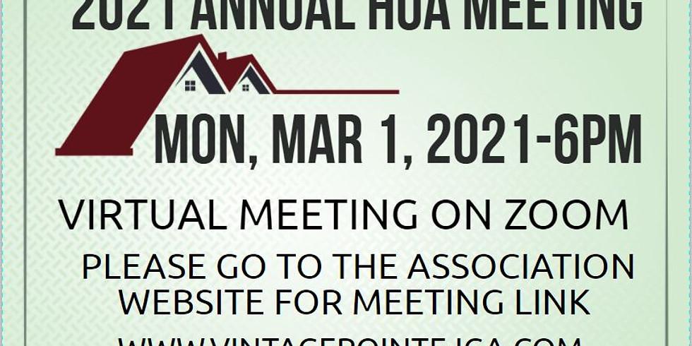 2021 ANNUAL HOA MEETING