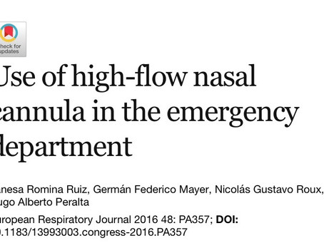 Use of high-flow nasal cannula in the emergency department