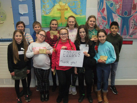 Yr 6 pupils working towards their Civic Award raised an amazing £226.18 for their chosen charities!