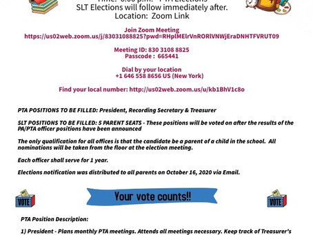 PTA and SLT Elections Update