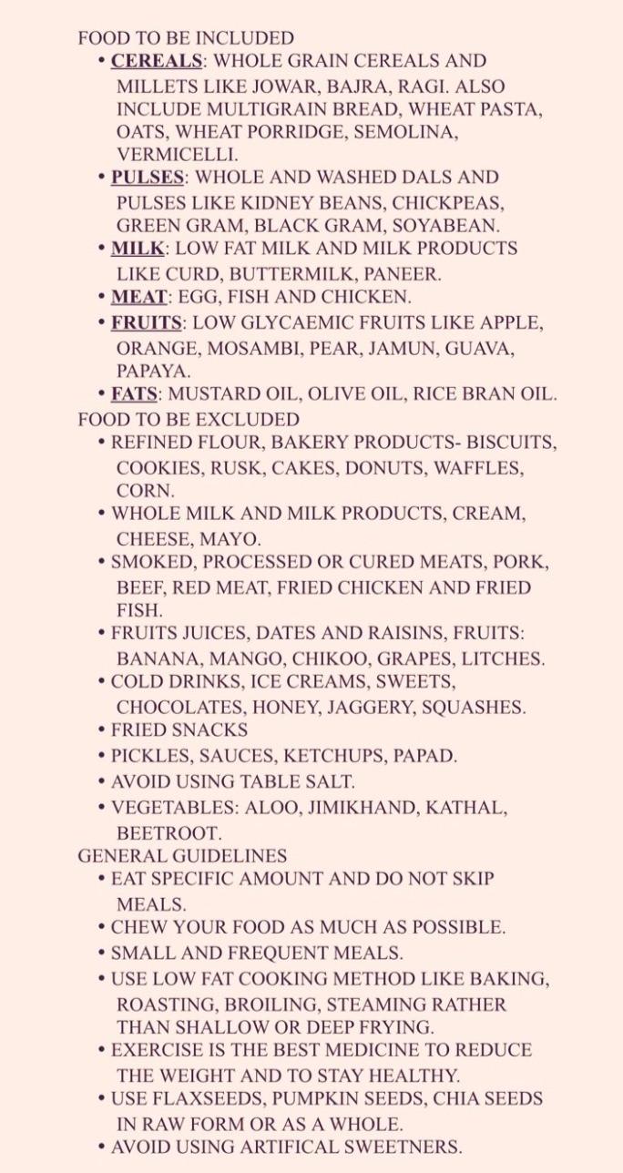 FOODS IN PREDIABETES