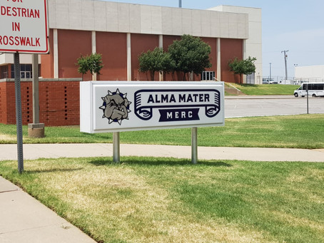 Alma Mater Merc now has its own sign