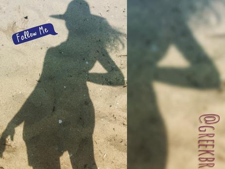 Μία σκιά πάει στην παραλία! (A shadow is going to the beach!)