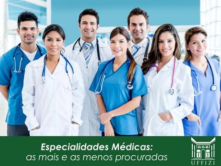 Especialidades Médicas: as mais e as menos procuradas