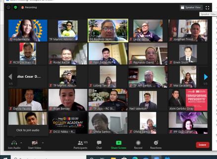 TP 1st Virtual Meeting