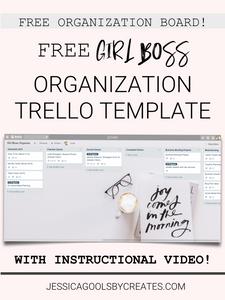 Free Girl Boss Organization Trello Template