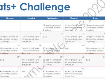 Squats Plus Challenge Week 4