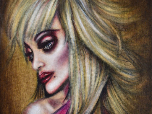 Dolly Parton in Devotion Painting by Tiago Azevedo