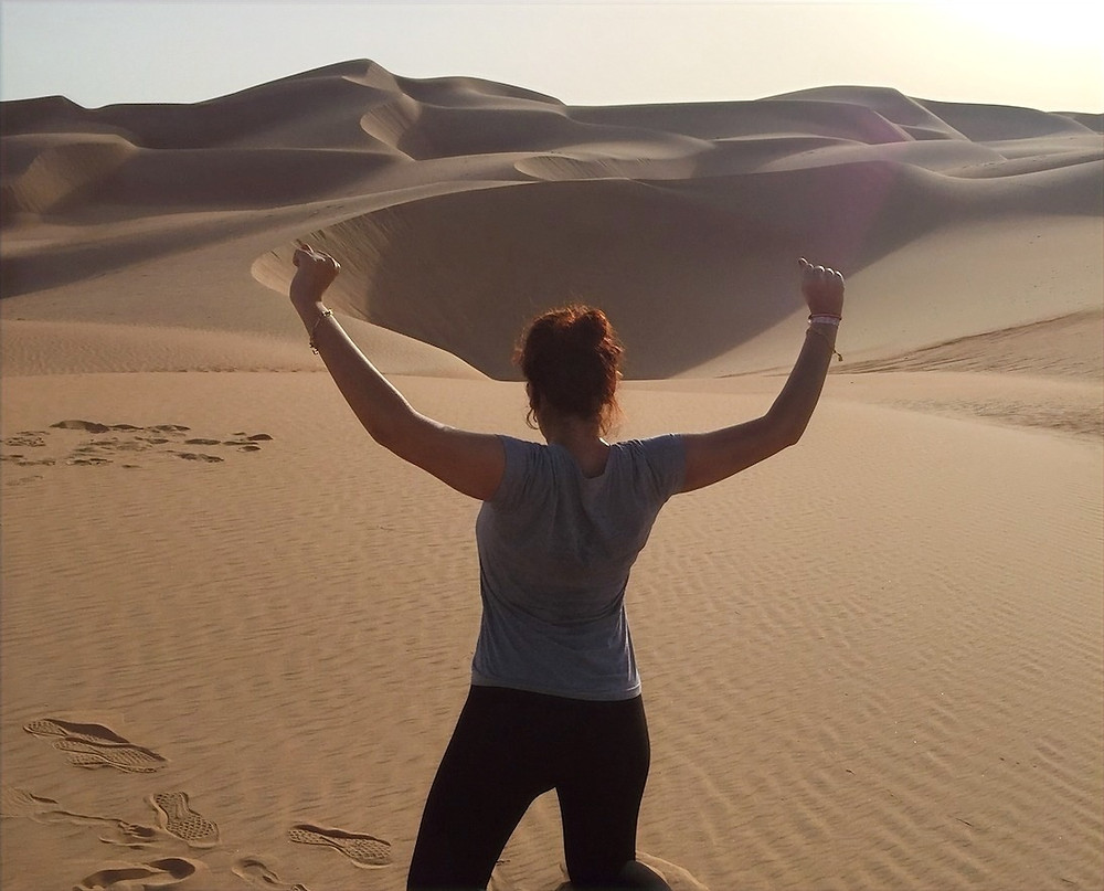 En el desierto de Liwa, Abu Dhabi.