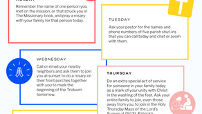 Holy Week Virtual Mission Quarantine Challenges