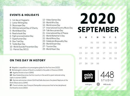 September Content Inspiration Calendar