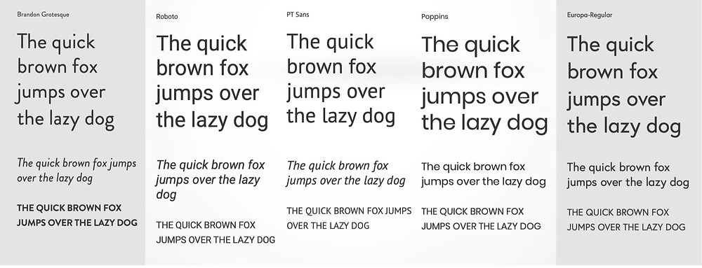 Brandon Grotesque font uses 17% less space