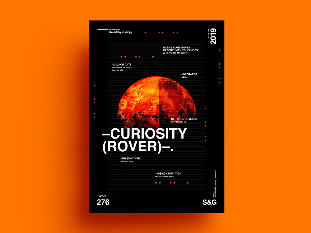 Curiosity Rover Science Poster
