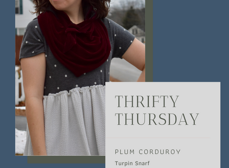 Thrifty Thursday - Plum Corduroy Turpin Snarf