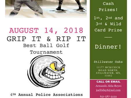GRIP IT & RIP IT Best Ball Golf Tournament August 14th, 2018