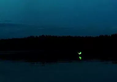 This is the ghost lights appears over the river in west bengal.