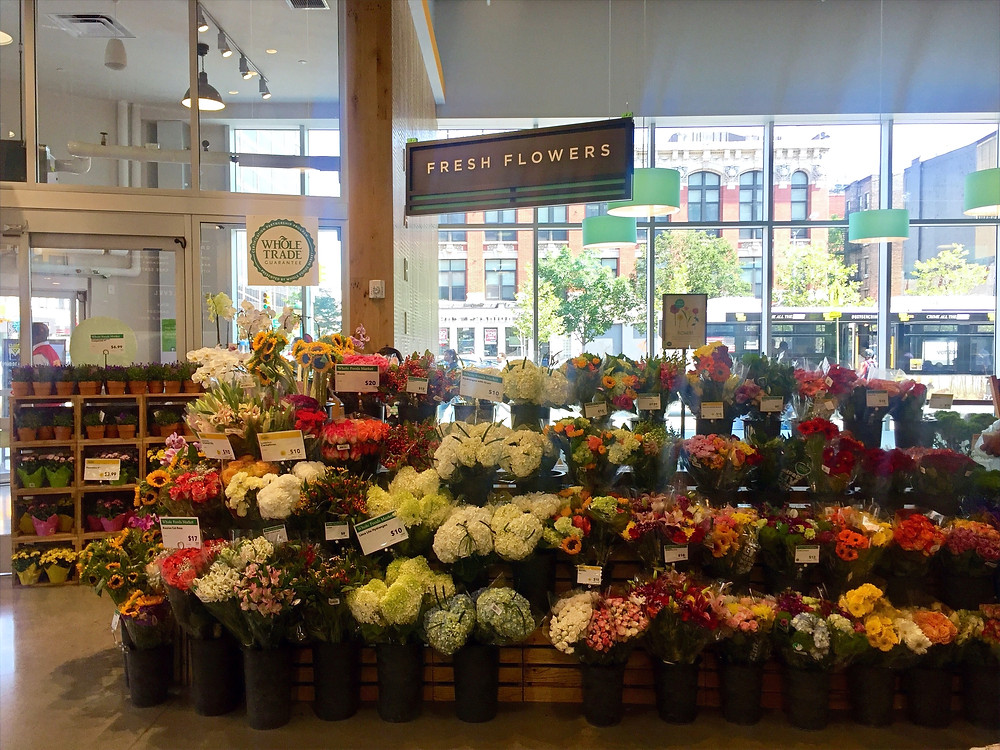 Whole Foods Harlem floral section