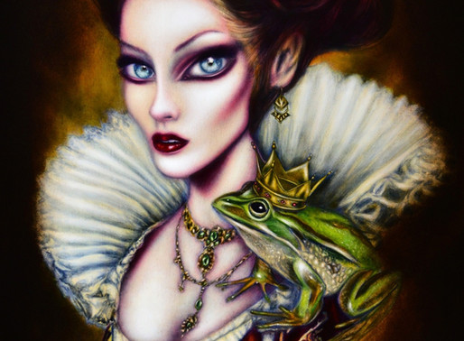 The Frog Princess and her Lover Painting by Tiago Azevedo