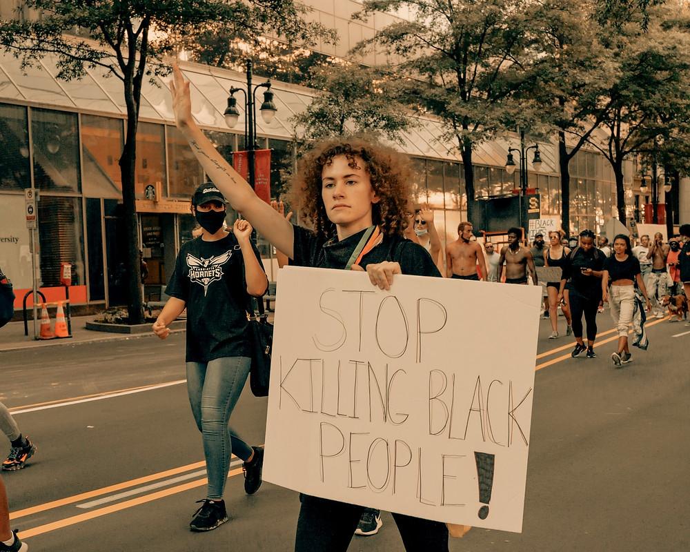 George Floyd protests in Uptown Charlotte, 5/30/2020 (IG: @clay.banks)