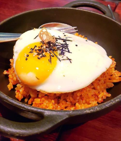 bibimbap gooey fried egg